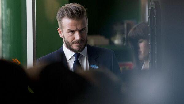 Eski İngiliz futbolcu David Beckham. - Sputnik Türkiye