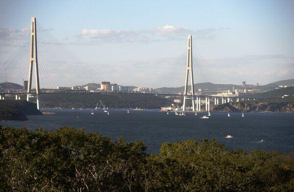 Vladivostok'taki Russki köprüsü - Sputnik Türkiye