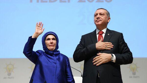 Recep Tayyip Erdoğan & Emine Erdoğan - Sputnik Türkiye