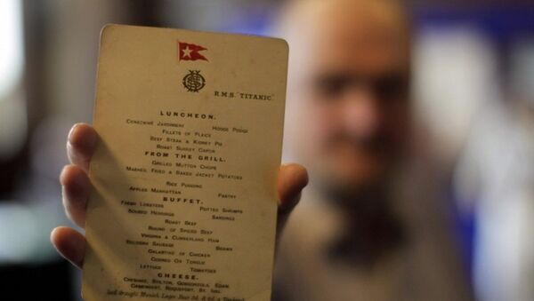 Titanic'te son öğle yemeği menüsüne 88 bin dolar - Sputnik Türkiye