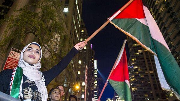 New York'ta Filistin için dayanışma gösterisi - Sputnik Türkiye