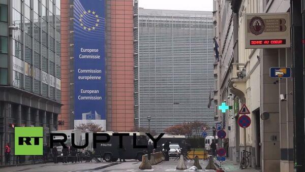 Brüksel'de TTIP protestosu - Sputnik Türkiye