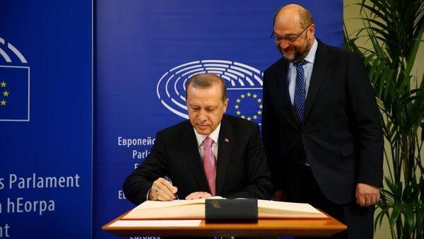 Recep Tayyip Erdoğan - Martin Schulz - Sputnik Türkiye