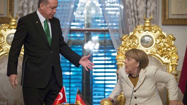 Angela Merkel - Recep Tayyip Erdoğan - Sputnik Türkiye
