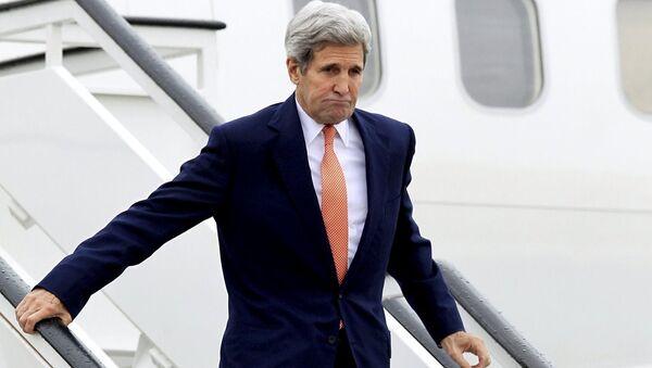 John Kerry İspanya'da - Sputnik Türkiye