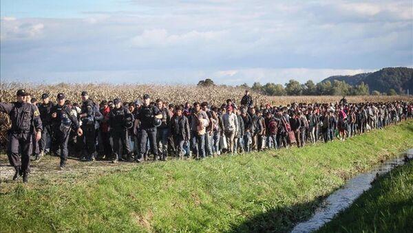 Avrupa'daki sığınmacıların zorlu yürüyüşü - Sputnik Türkiye