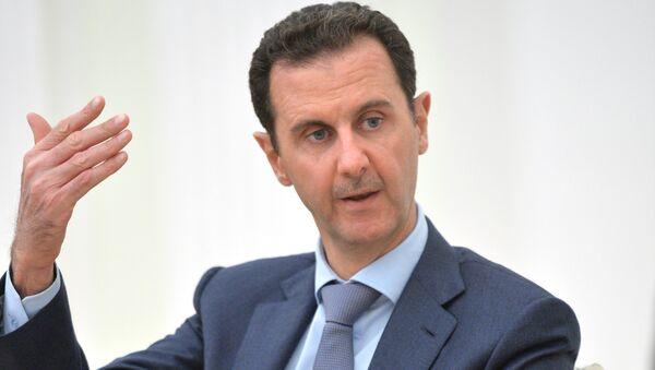 Suriye ordusunun amacının siyasi çözümü engelleyen terörizmi yok etmek olduğunu vurgulayan Esad, terör örgütlerine verilen her tür desteğin sonlandırılması çağrısı yaptı. - Sputnik Türkiye