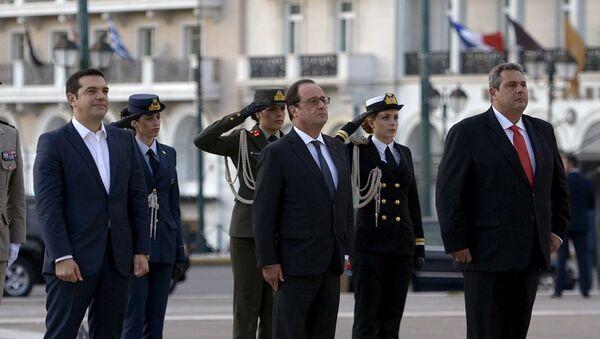 Fransa Cumhurbaşkanı François Hollande Atina'da - Sputnik Türkiye