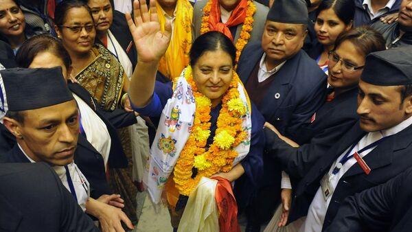 Nepal'in ilk kadın Cumhurbaşkanı Bidhya Devi Bandari - Sputnik Türkiye