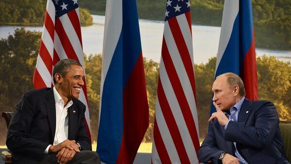 ABD Başkanı Barack Obama - Rusya Devlet Başkanı Vladimir Putin  - Sputnik Türkiye