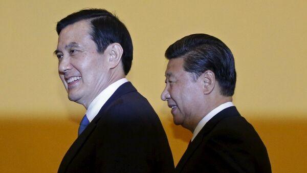 Çin Devlet Başkanı Şi Cinping - Tayvan Devlet Başkanı Ma Ying-jeou - Sputnik Türkiye