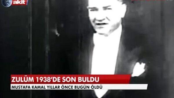 Akit TV'nin Mustafa Kemal Atatürk haberi. - Sputnik Türkiye