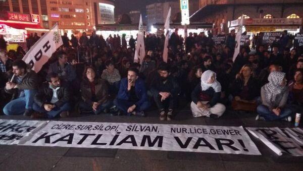 HDP Silvan protesto - Sputnik Türkiye