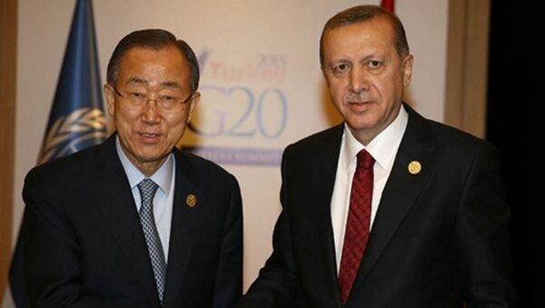Cumhurbaşkanı Recep Tayyip Erdoğan - Birleşmiş Milletler Genel Sekreteri Ban Ki-Mun (Arşiv) - Sputnik Türkiye