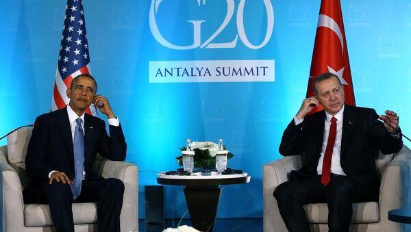 ABD Başkanı Barack Obama - Cumhurbaşkanı Recep Tayyip Erdoğan - Sputnik Türkiye