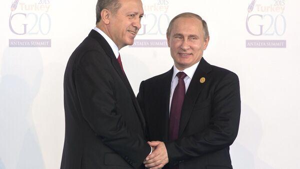 Rusya lideri Vladimir Putin- Türkiye Cumhurbaşkanı Recep Tayyip Erdoğan - Sputnik Türkiye