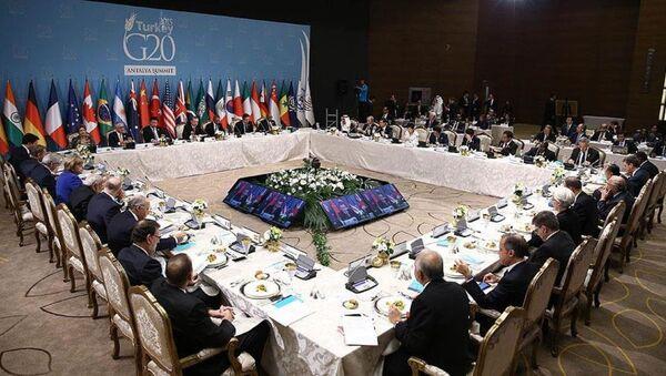 G20 çalışma yemeği - Sputnik Türkiye