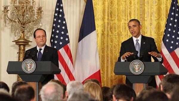 ABD Başkanı Barack Obama ile Fransa Cumhurbaşkanı François Hollande - Sputnik Türkiye