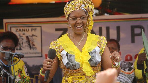 Zimbabve Devlet Başkanı Robert Mugabe'nin eşi Grace Mugabe - Sputnik Türkiye