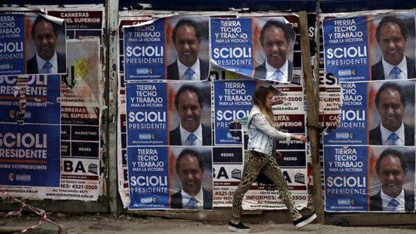 Arjantin'de devlet başkanını belirlemek için bugün 32 milyon kayıtlı seçmen sandık başında. - Sputnik Türkiye