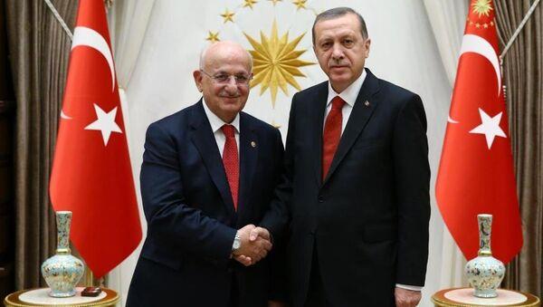 Cumhurbaşkanı Recep Tayyip Erdoğan, TBMM Başkanı İsmail Kahraman'ı kabul etti. - Sputnik Türkiye
