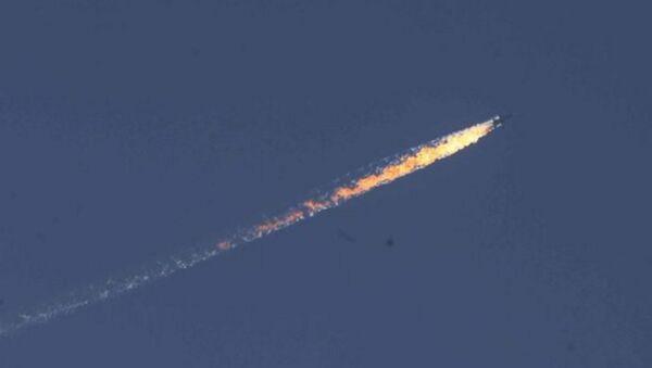 Türkiye-Suriye sınırında askeri uçak düştü - Sputnik Türkiye