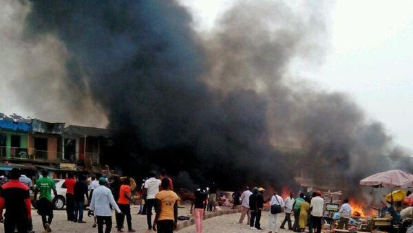 Nijerya'nın Kano kentinde, Şiilerin düzenlediği geçit töreni sırasında düzenlenen intihar saldırısı. - Sputnik Türkiye