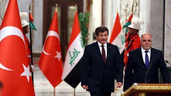 Ahmet Davutoğlu - Haydar El İbadi - Sputnik Türkiye