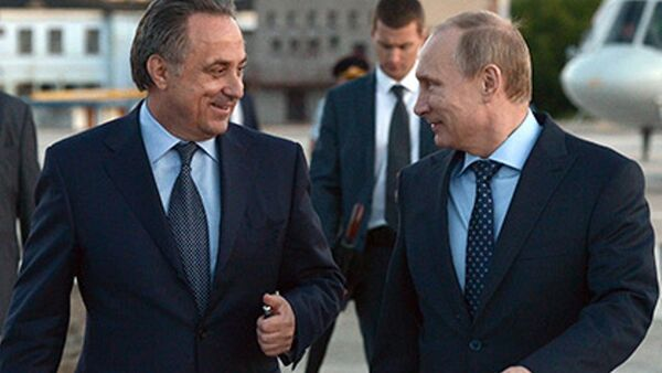 Vitaliy Mutko - Vladimir Putin - Sputnik Türkiye