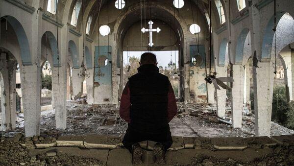 IŞİD'den kurtarılan Hristiyan köyleri - Sputnik Türkiye