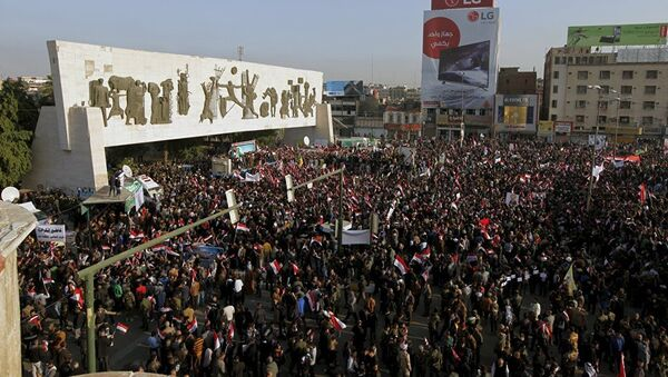 Bağdat'ta 'Türkiye, askerini geri çeksin' protestosu - Sputnik Türkiye