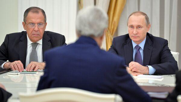 Putin, Lavrov, Kerry - Sputnik Türkiye