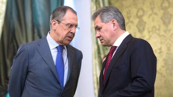 Rusya Dışişleri Bakanı Sergey Lavrov - Rusya Savunma Bakanı Sergey Şoygu - Sputnik Türkiye