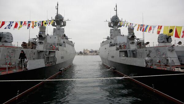 Rusya'nın Zelyonıy Dol ve Serpuhov isimli gemileri - Sputnik Türkiye
