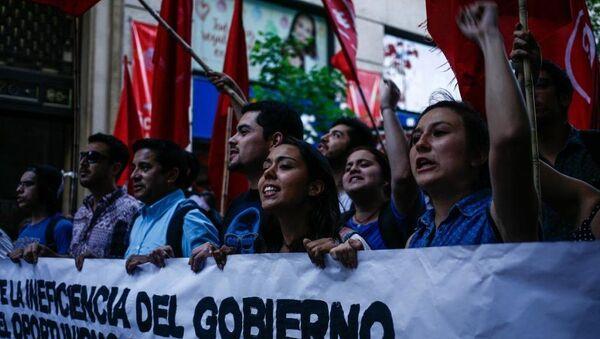 Şili'de öğrenci protestosu - Sputnik Türkiye