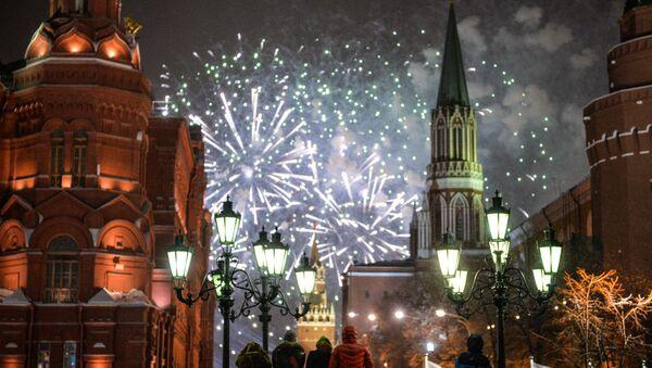 Moskova'da yeni yıl kutlamaları - Sputnik Türkiye