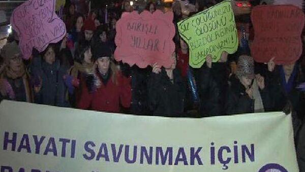 Kadınlar barış için eylem yaptı - Sputnik Türkiye