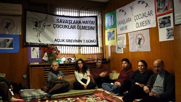 Alevilerin açlık grevi - Sputnik Türkiye