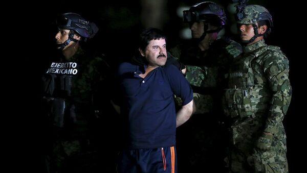'El Chapo' lakaplı uyuşturucu baronu Joaquin Guzman - Sputnik Türkiye
