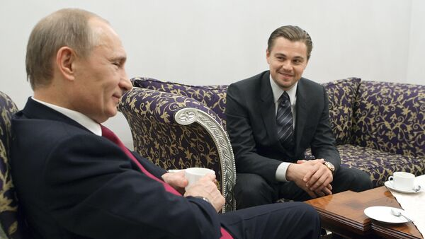 Leonardo Di Caprio ve Vladimir Putin. - Sputnik Türkiye