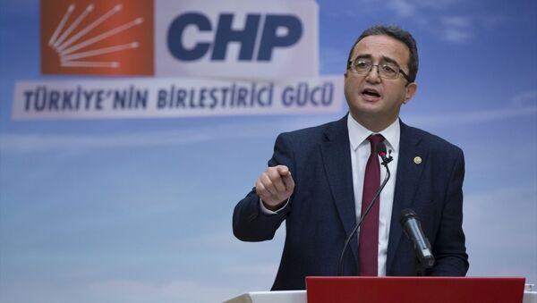 CHP Genel Başkan Yardımcısı Bülent Tezcan, parti genel merkezinde basın toplantısı düzenledi. - Sputnik Türkiye