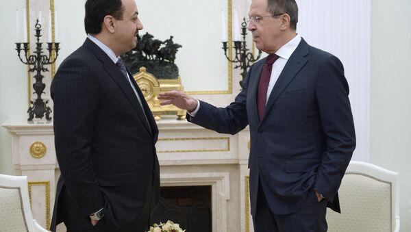 Rusya Devlet Başkanı Sergey Lavrov ve Katarlı mevkidaşı Halid el Attiye - Sputnik Türkiye