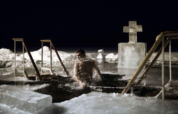 Rusya'da Vaftiz kutlaması - Sputnik Türkiye