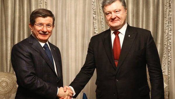 Davutoğlu ve Poroşenko, Davos'ta görüştü - Sputnik Türkiye