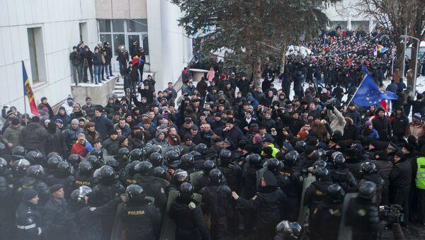 Moldova'da hükümet karşıtı gösteriler - Sputnik Türkiye