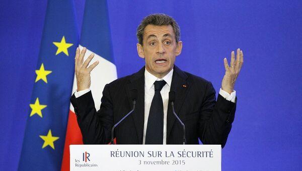 Eski Fransa Cumhurbaşkanı ve Cumhuriyetçiler Partisi lideri Nicolas Sarkozy - Sputnik Türkiye