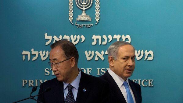 BM Genel Sekreteri Ban Ki-mun- İsrail Başbakanı Benyamin Netanyahu - Sputnik Türkiye