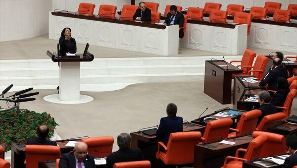 HDP Diyarbakır Milletvekili Sibel Yiğitalp, TBMM Genel Kurulu'nda konuşma yaptı. - Sputnik Türkiye