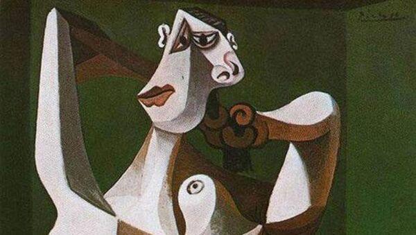Picasso 'Saçını Tarayan Çıplak Kadın' tablosu - Sputnik Türkiye