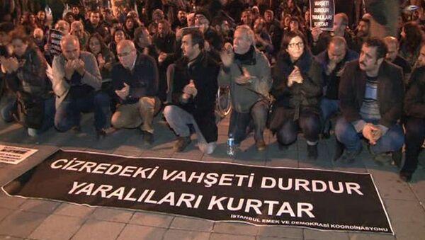 Kadıköy'de Cizre eylemi - Sputnik Türkiye
